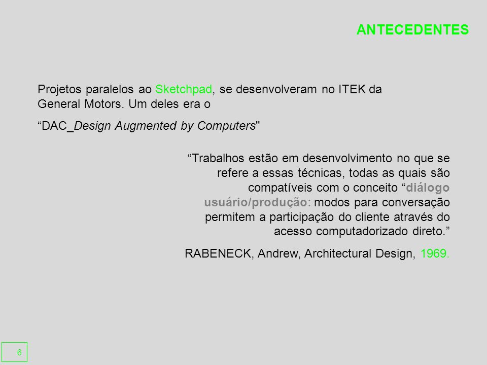 Revit Building Empresa Autodesk http://www.autodesk.com Funcionalidades Principais Parametric modeling, Quantity Take off, Rendering Objetos Básicos Site(Toposurface, Pad, Parking space), Wall, Door, Window, Column Roof, Floor, Ceiling, Stairs, Railing, Ramp, Curtain System, Mullion Funcionalidades Paramétricas Parametric Object Parametric relationship between objects Formatos de Exportação de Arquivos AutoCAD DWG 2004 (dwg), AutoCAD DXF 2004 (dxf), AutoCAD DWG 2000 (dwg), AutoCAD DXF 2000 (dxf)Microstation DGN V7 (dgn), ACIS 3.00 (sat) IFC 2X2 (ifc, stp), CIS/2 LPM/5 (stp), Revit 8 (rvt), AutoCAD DWF (dwf) Formatos de Importação de Arquivos AutoCAD DWG 2004 (dwg), AutoCAD DXF 2004 (dxf), AutoCAD DWG 2000 (dwg) AutoCAD DXF 2000 (dxf), Microstation DGN V7 (dgn), ACIS 3.00 (sat) Interface de Programação NET API, COM API(depreciated) C, C++, VB, C# Requisitos de Sistema Operating System: Microsoft Windows 2000 Microsoft Windows XP Pro Note: QuickTime 6 and Java 2v1.4.2 or later is required Or Macintosh?OS X 10.2 Macintosh?OS X 10.3 CPU: Intel?Pentium 4 or compatible Or Minimum: Power Macintosh G4 1 GHz Recommended: Power Macintosh G5 1,8 GHz RAM: Minimum: 512 MB Recommended: 1 GB Hard Drive Space: Minimum: 500 MB for full installation Recommended: 1 GB for work with complex models and 3D visualization Note: UNIX formatted HDs are not supported Autodesk® Revit® Architecture software auxilia-o a explorar conceitos preliminares de desenho e formas, e mantém sua visão mais acurada através do desenho, documentação e construção.