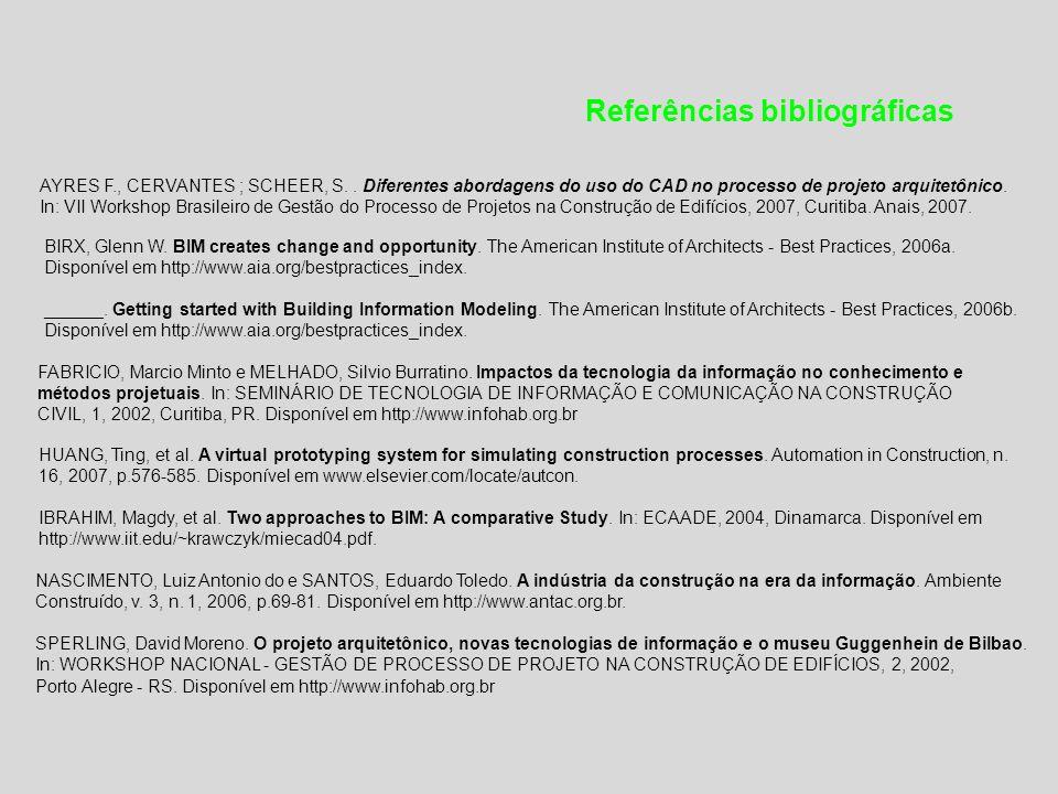 Referências bibliográficas AYRES F., CERVANTES ; SCHEER, S..
