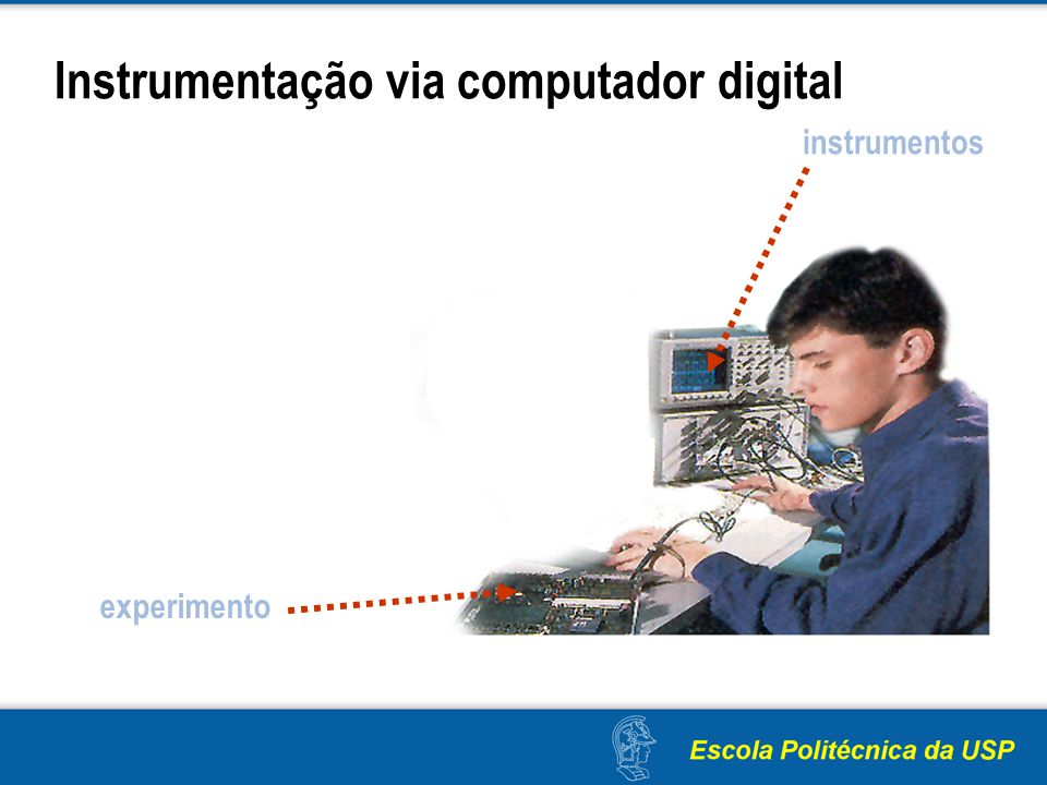 Instrumentação via computador digital instrumentos experimento