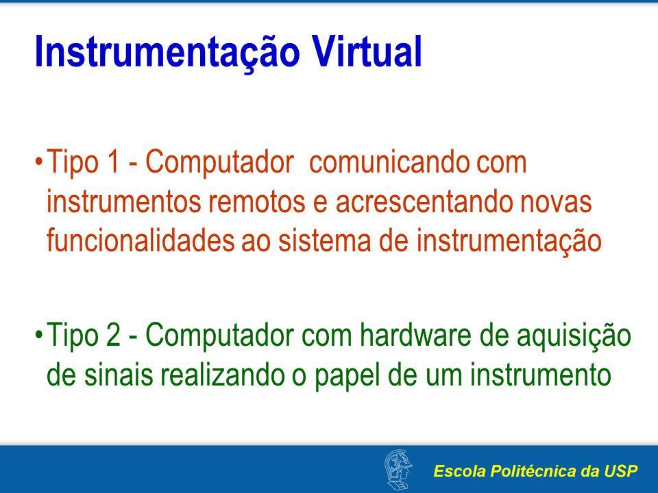 Instrumentação Virtual Tipo 1 - Computador comunicando com instrumentos remotos e acrescentando novas funcionalidades ao sistema de instrumentação Tip