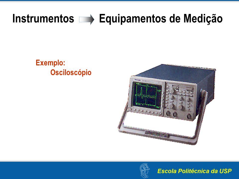 Instrumentos Equipamentos de Medição Exemplo: Osciloscópio