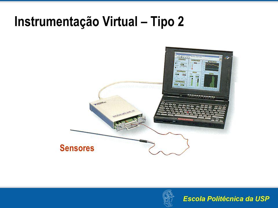 Instrumentação Virtual – Tipo 2 Sensores