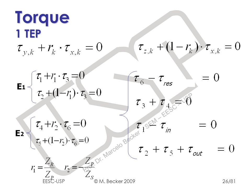 Prof.Dr. Marcelo Becker - SEM – EESC – USP E1E1 E2E2 out in res Torque 1 TEP EESC-USP © M.