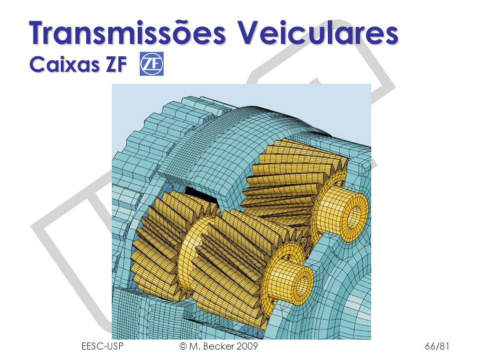 Prof. Dr. Marcelo Becker - SEM – EESC – USP Transmissões Veiculares Caixas ZF EESC-USP © M. Becker 200966/81