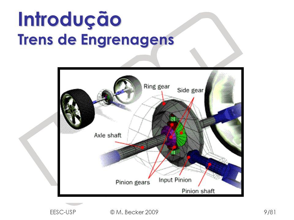 Prof. Dr. Marcelo Becker - SEM – EESC – USP Introdução Trens de Engrenagens EESC-USP © M. Becker 20099/81