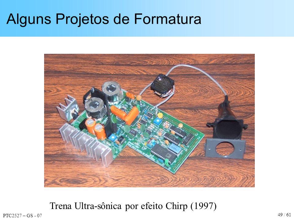 PTC2527 – GS - 07 49 / 61 Alguns Projetos de Formatura Trena Ultra-sônica por efeito Chirp (1997)