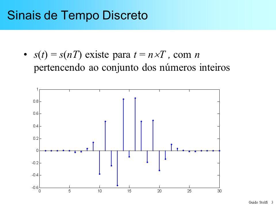 Guido Stolfi 4 Sinais Quantizados s(t) assume valores pertencentes a um conjunto discreto (v 1,v 2,v 3 …v N )
