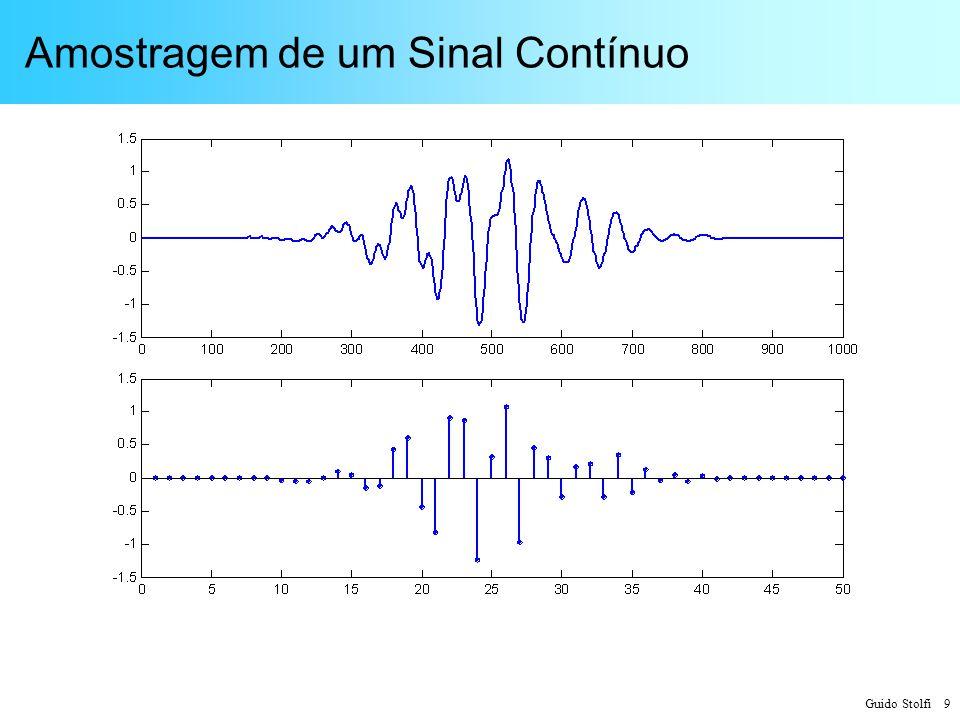 Guido Stolfi 10 Reconstrução de um Sinal Amostrado Cada amostra s A (nT) é substituída por um pulso h(t-nT), posicionado em um ponto correspondente ao instante nT, com amplitude proporcional ao valor de s A (nT) Isso corresponde à convolução de s A (nT) e h(t): Os pulsos h(t) podem ou não apresentar superposição