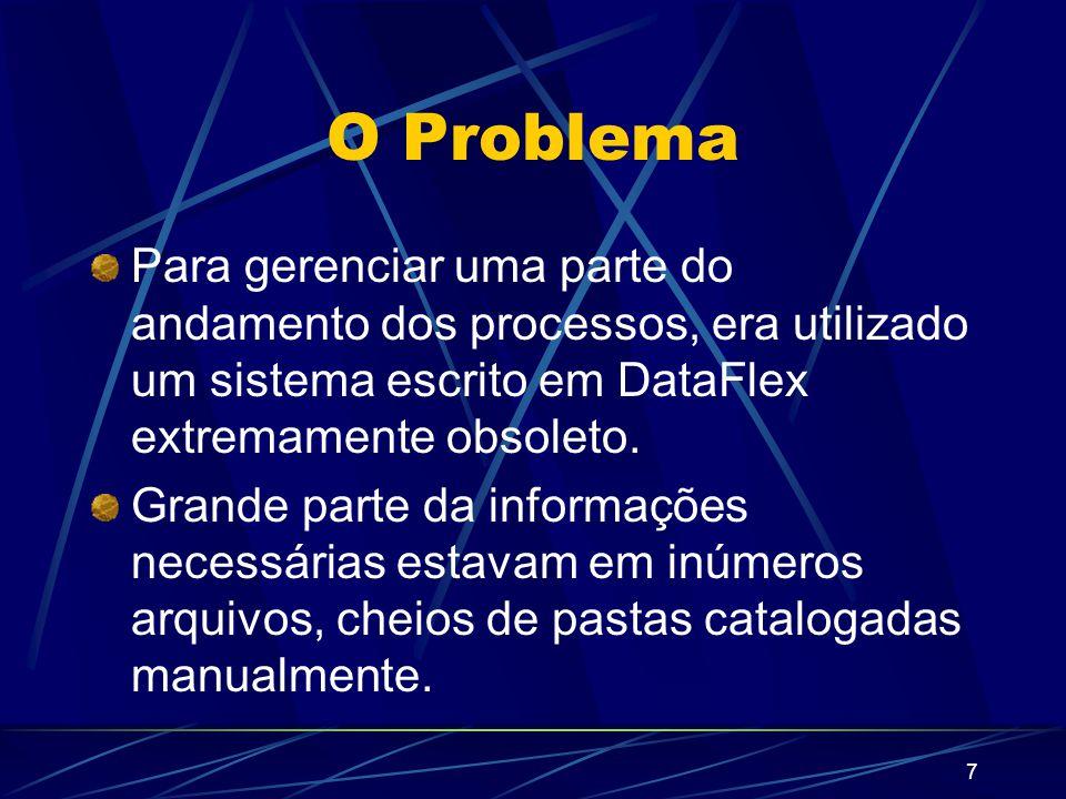 8 A Solução Migrar as informações das empresas, estrangeiros e processos para o banco de dados.