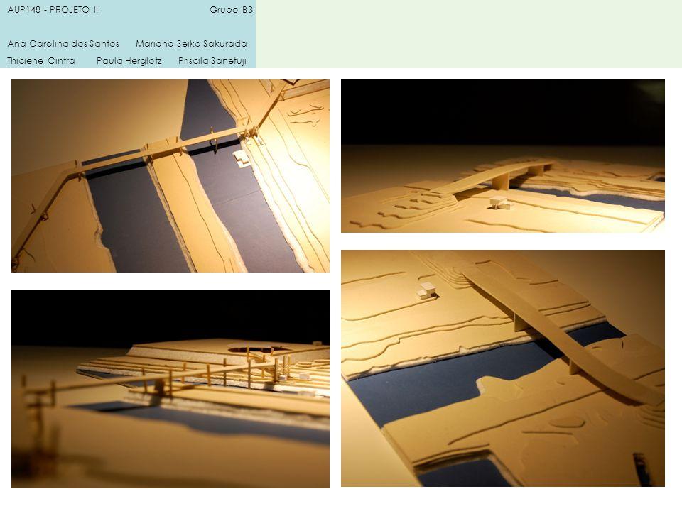 AUP148 - PROJETO III Grupo B3 Ana Carolina dos Santos Mariana Seiko Sakurada Thiciene Cintra Paula Herglotz Priscila Sanefuji