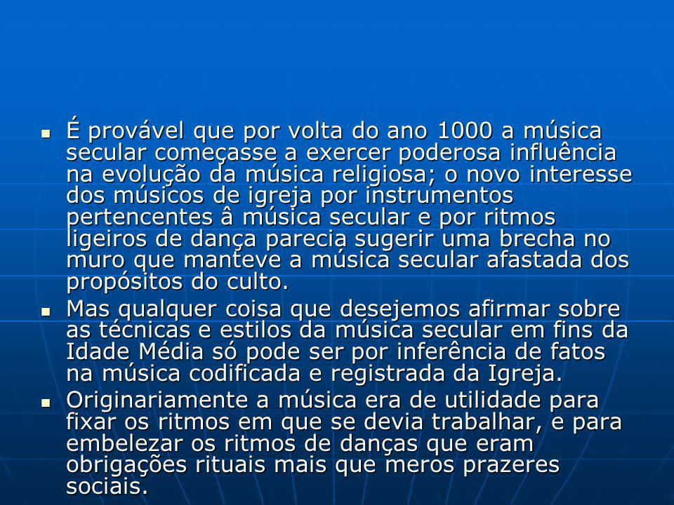 A música do século XVI é baseada nos assim chamados modos eclesiáticos; A música do século XVI é baseada nos assim chamados modos eclesiáticos; Um sistema que existiu na música da Europa Latina Ocidental e dominou até o século XVII, quando a transição sub- reptícia para o sistema maior-menor começa a ocorrer.