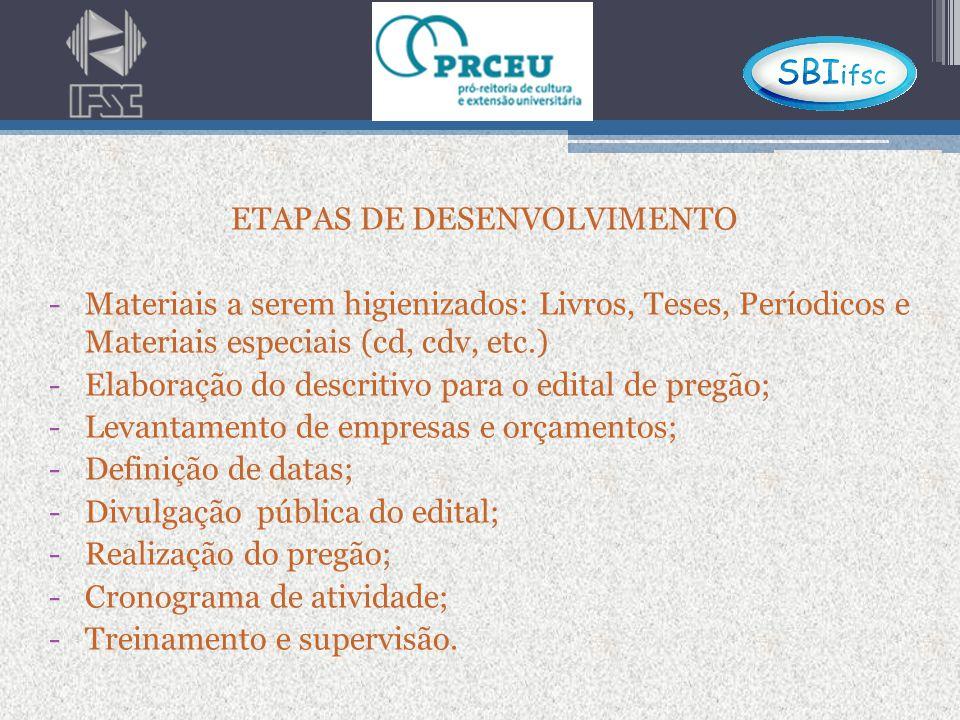 ETAPAS FINAIS -Pedido de prorrogação -Prestação de contas/justificativas