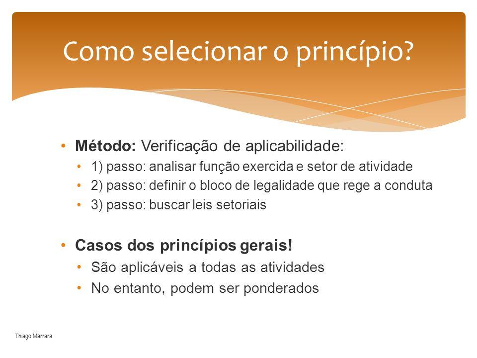 Método: Verificação de aplicabilidade: 1) passo: analisar função exercida e setor de atividade 2) passo: definir o bloco de legalidade que rege a cond