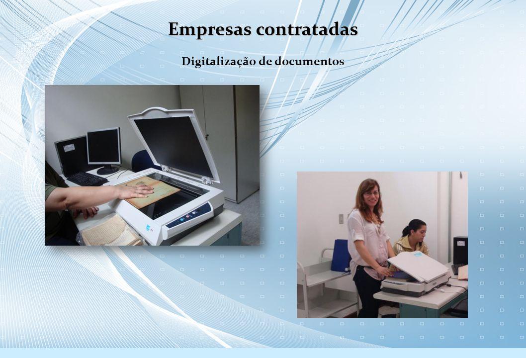 Digitalização de documentos Empresas contratadas
