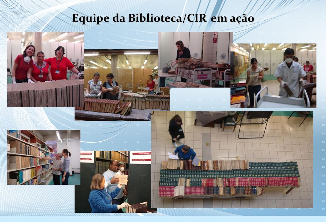 Equipe da Biblioteca/CIR em ação