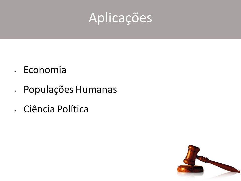 Aplicações Economia Populações Humanas Ciência Política