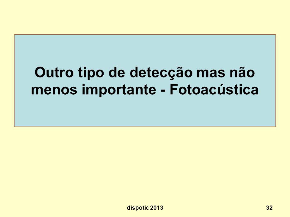 32 Outro tipo de detecção mas não menos importante - Fotoacústica dispotic 2013
