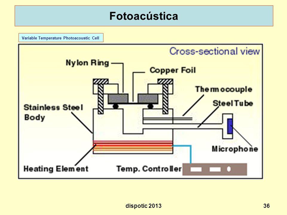 36 Fotoacústica Variable Temperature Photoacoustic Cell dispotic 2013