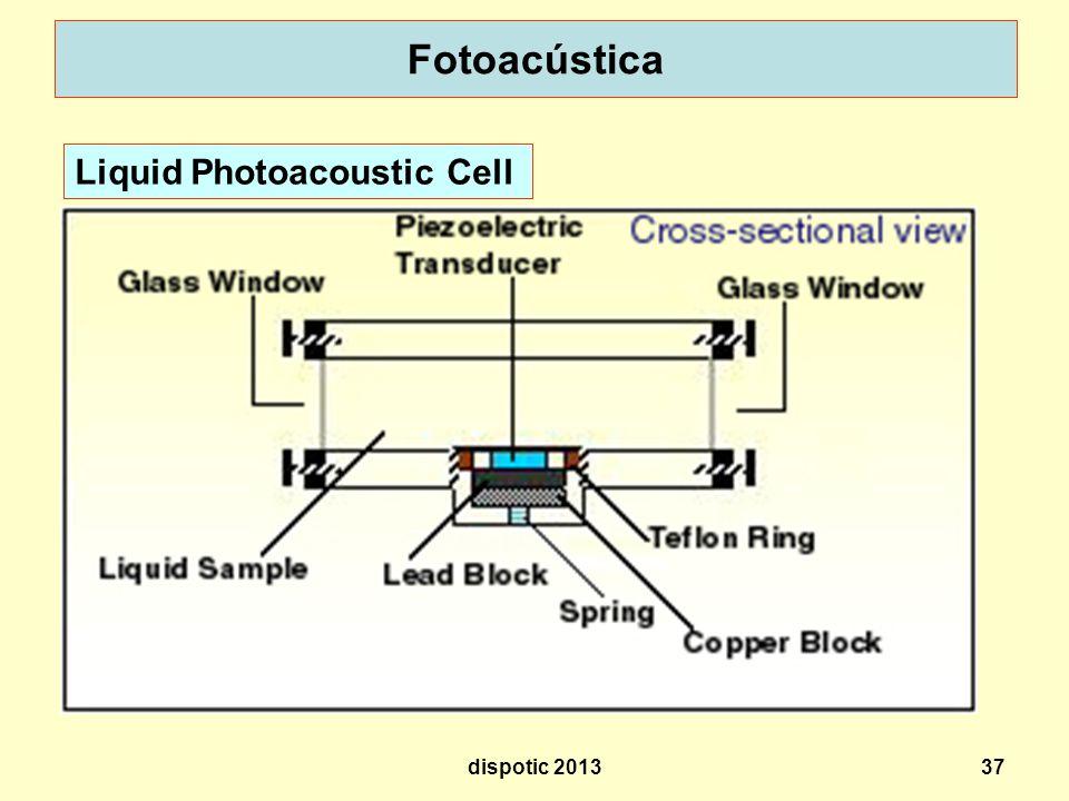 37 Fotoacústica Liquid Photoacoustic Cell dispotic 2013