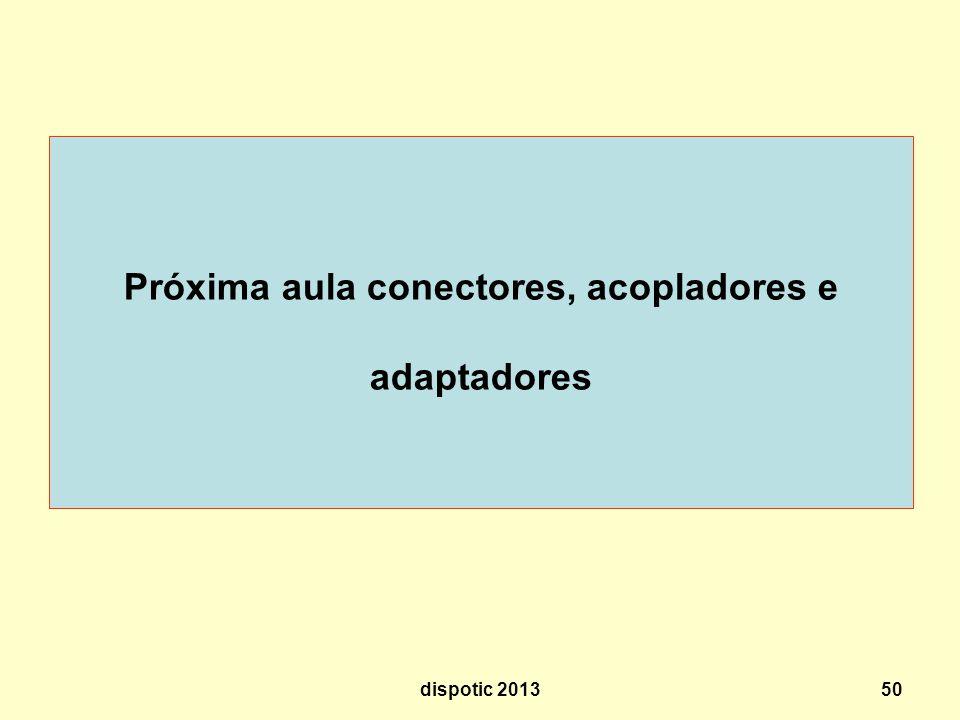 Próxima aula conectores, acopladores e adaptadores dispotic 201350