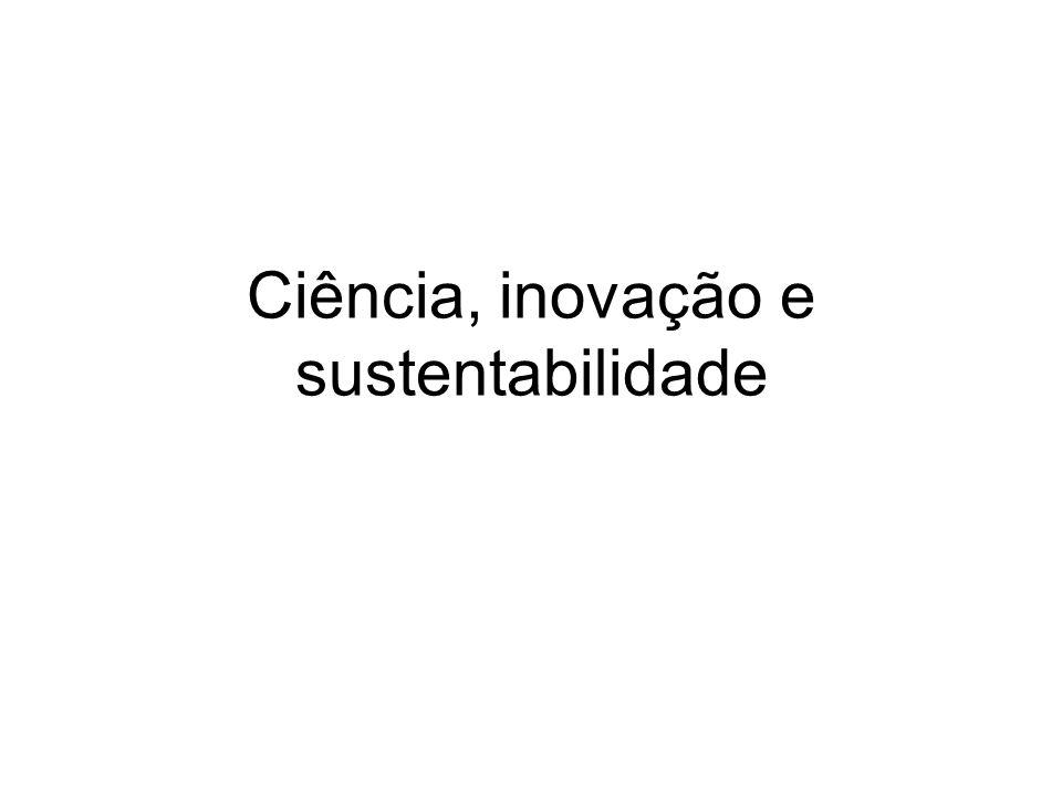 Uma nova estratégia Possibilidade de matriz energética limpa e renovável:hidroeletricidade, eólica, solar, marés, geotérmica, biomassas; população próxima da estabilização.