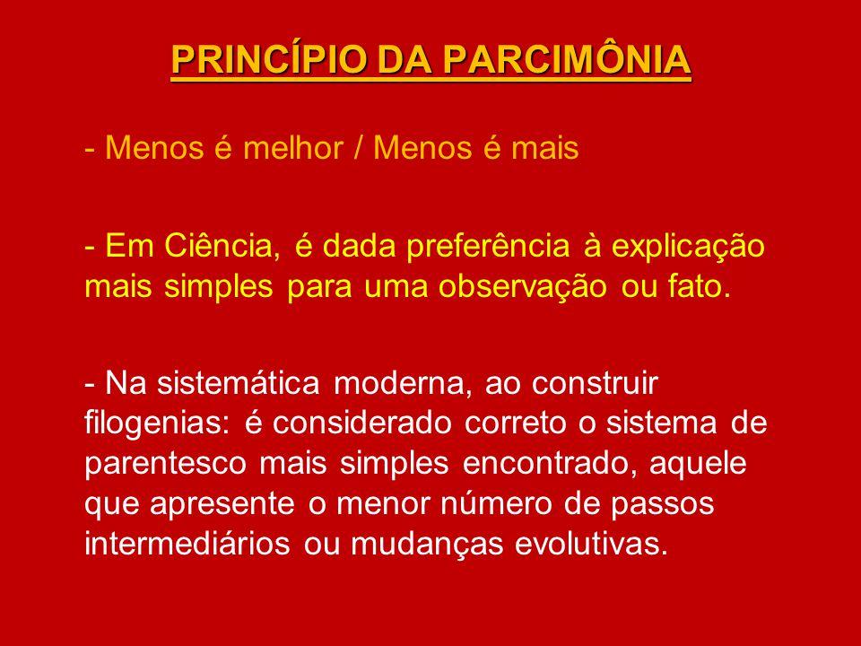 PRINCÍPIO DA PARCIMÔNIA - Menos é melhor / Menos é mais - Em Ciência, é dada preferência à explicação mais simples para uma observação ou fato. - Na s
