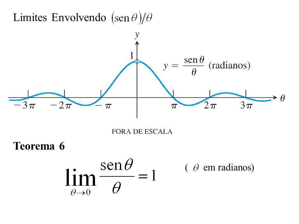 Prova O objetivo é mostrar que os limites à direita e à esquerda são iguais a 1.