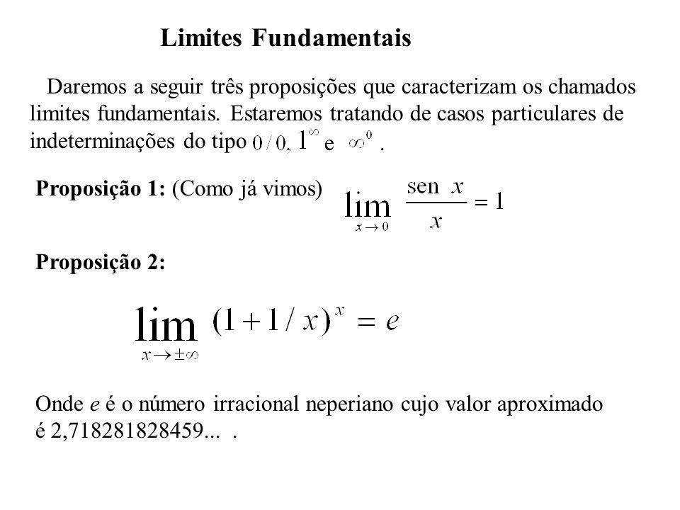 Exemplo Provar que Em primeiro lugar provaremos que De fato, fazendo x = 1/t temos quando.