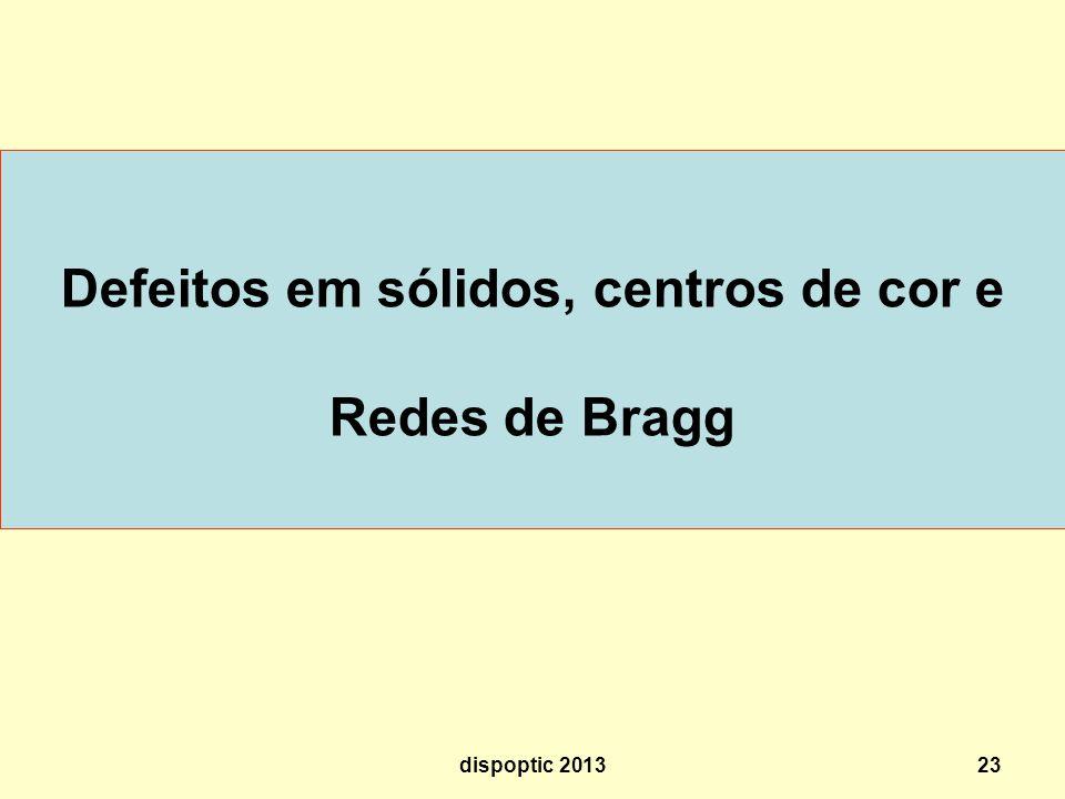 23 Defeitos em sólidos, centros de cor e Redes de Bragg dispoptic 2013