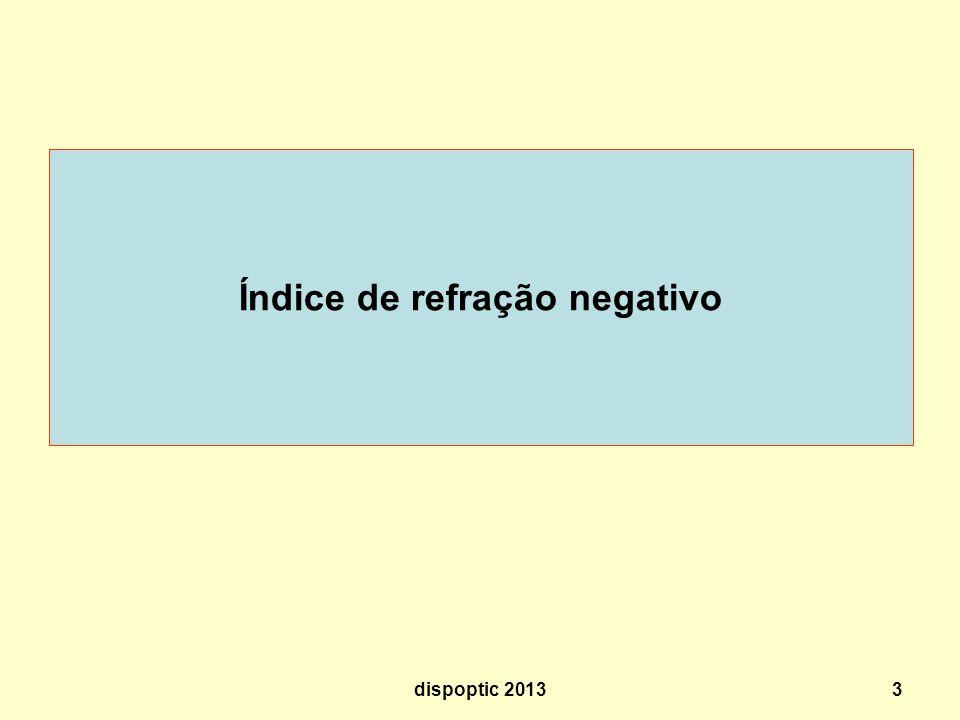 Índice de refração negativo 3dispoptic 2013