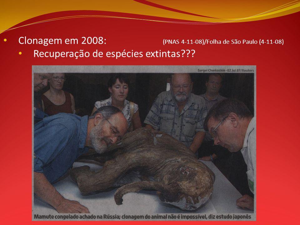 Recuperação de espécies extintas???