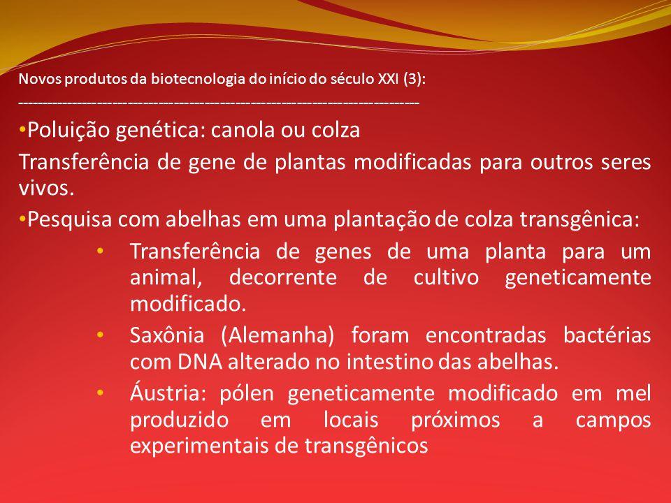 Novos produtos da biotecnologia do início do século XXI (3): ------------------------------------------------------------------------------- Poluição