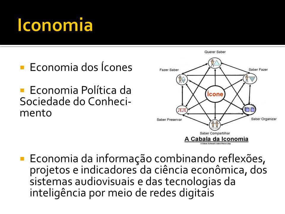 Economia dos Ícones Economia Política da Sociedade do Conheci- mento Economia da informação combinando reflexões, projetos e indicadores da ciência ec