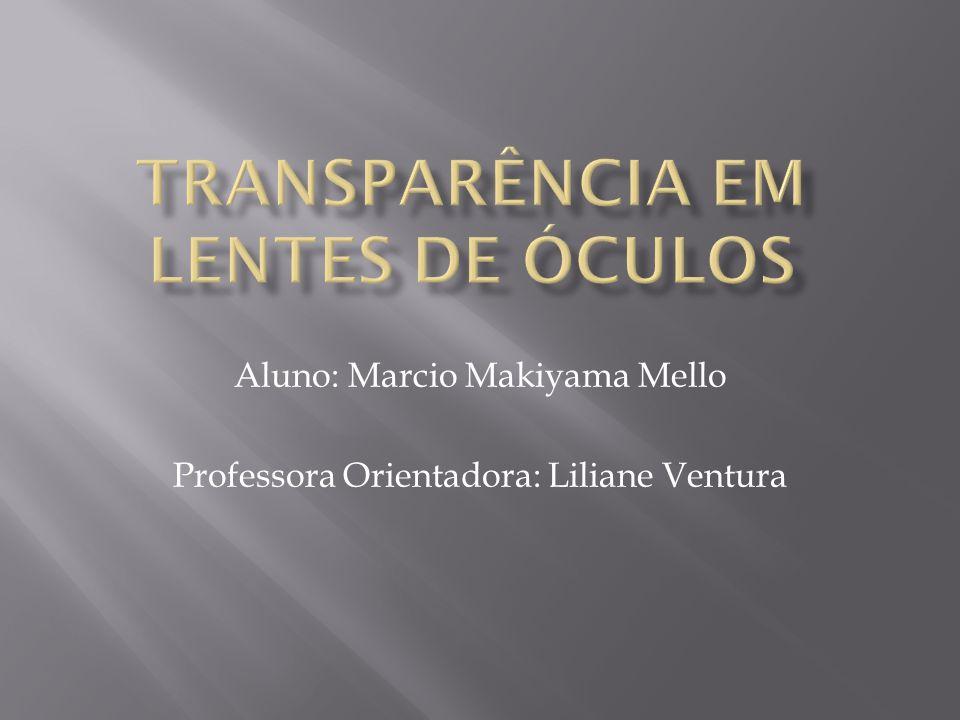 Aluno: Marcio Makiyama Mello Professora Orientadora: Liliane Ventura