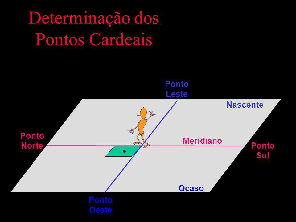 Definição dos Pontos Cardeais Nascente Ocaso Meridiano Ponto Leste Ponto Oeste Ponto Sul Ponto Norte