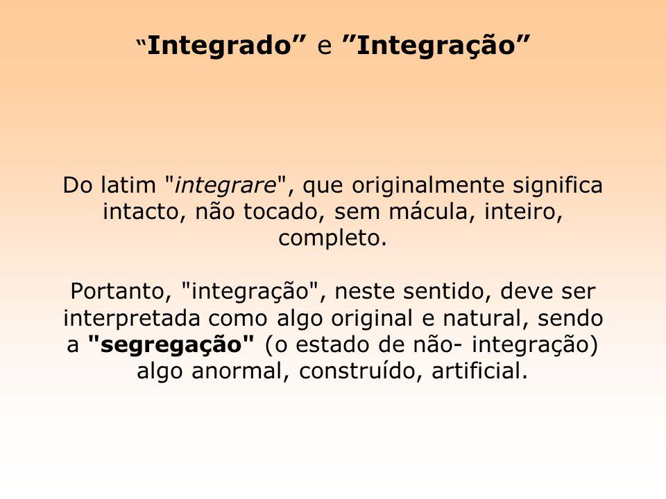 Integrado e Integração Do latim