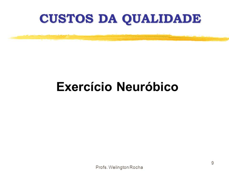 Profs. Welington Rocha 10 CUSTEIO DA QUALIDADE CC = CP + CA