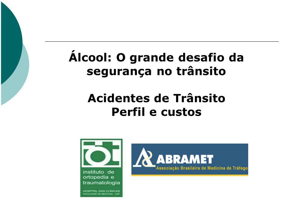 Álcool: O grande desafio da segurança no trânsito Acidentes de Trânsito Perfil e custos