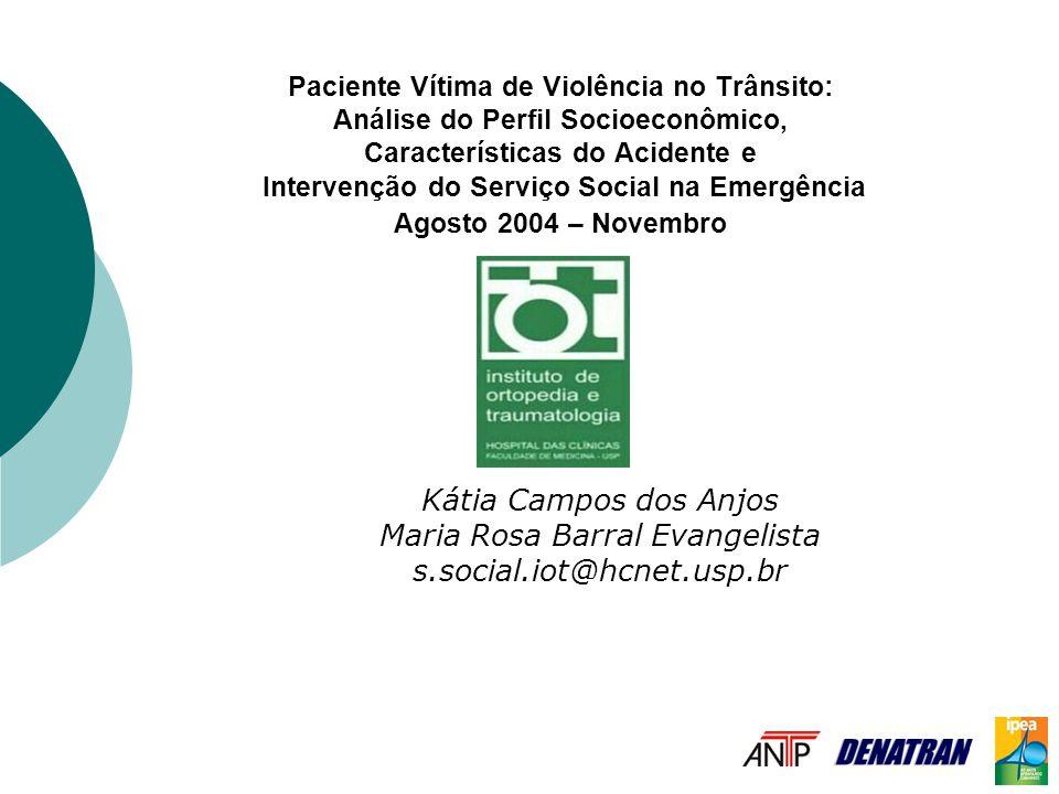 Paciente Vítima de Violência no Trânsito: Análise do Perfil Socioeconômico, Características do Acidente e Intervenção do Serviço Social na Emergência