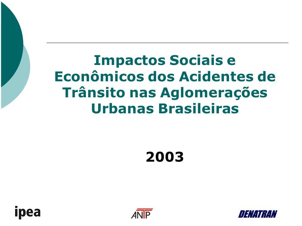 Impactos Sociais e Econômicos dos Acidentes de Trânsito nas Aglomerações Urbanas Brasileiras 2003