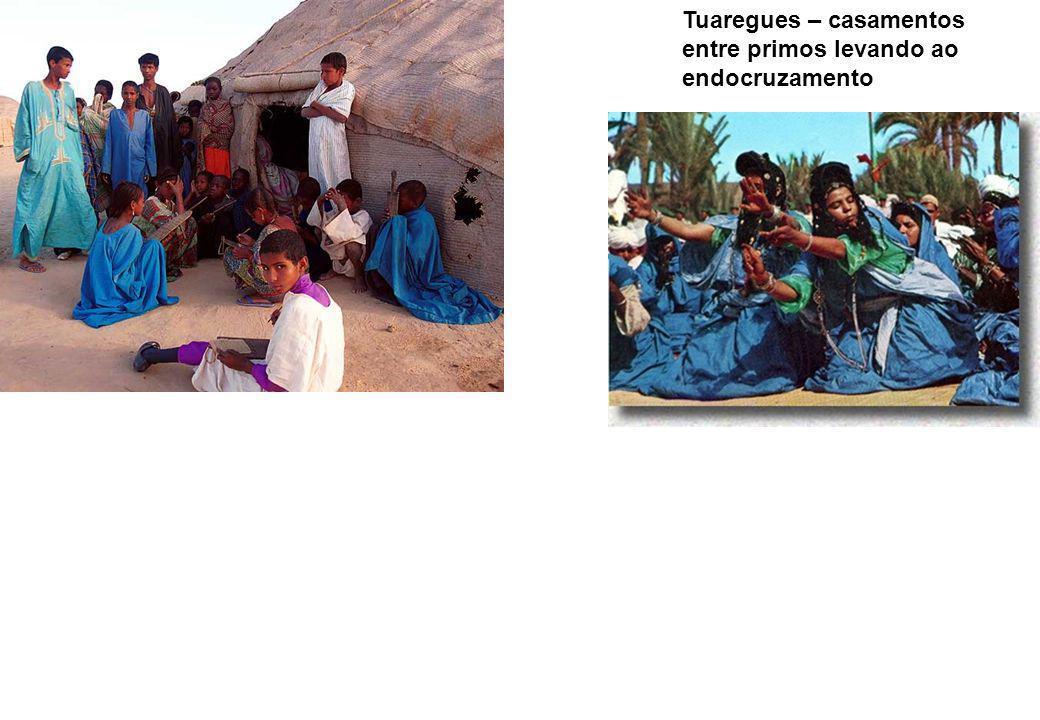 Tuaregues – casamentos entre primos levando ao endocruzamento