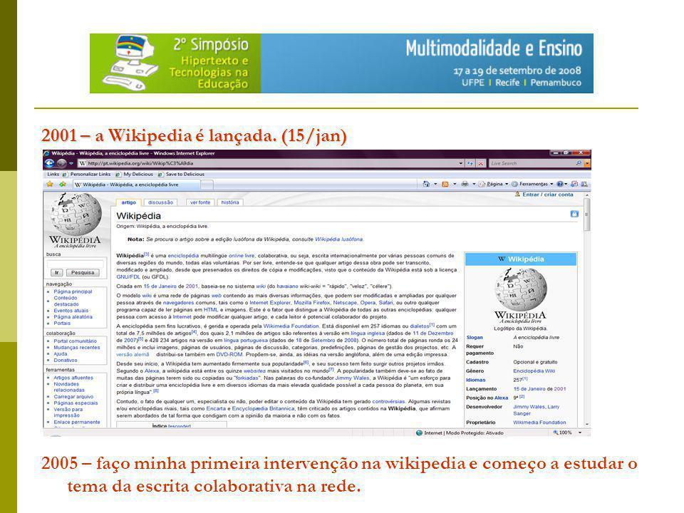 WIKI: WIKI: software colaborativo que permite que as páginas nele criadas possam ser editadas online e por várias pessoas ao mesmo tempo.