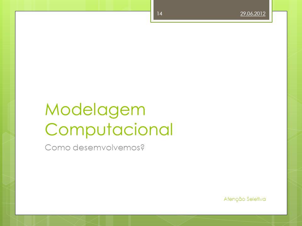 Modelagem Computacional Como desemvolvemos? 29.06.2012 Atenção Seletiva 14