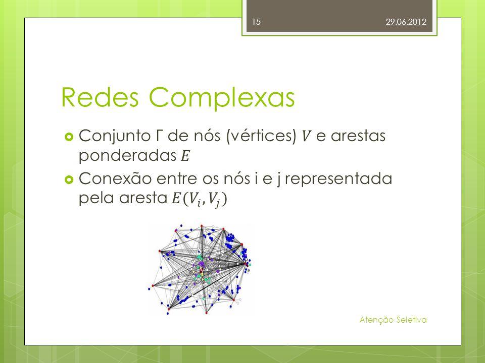 Redes Complexas 29.06.2012 Atenção Seletiva 15