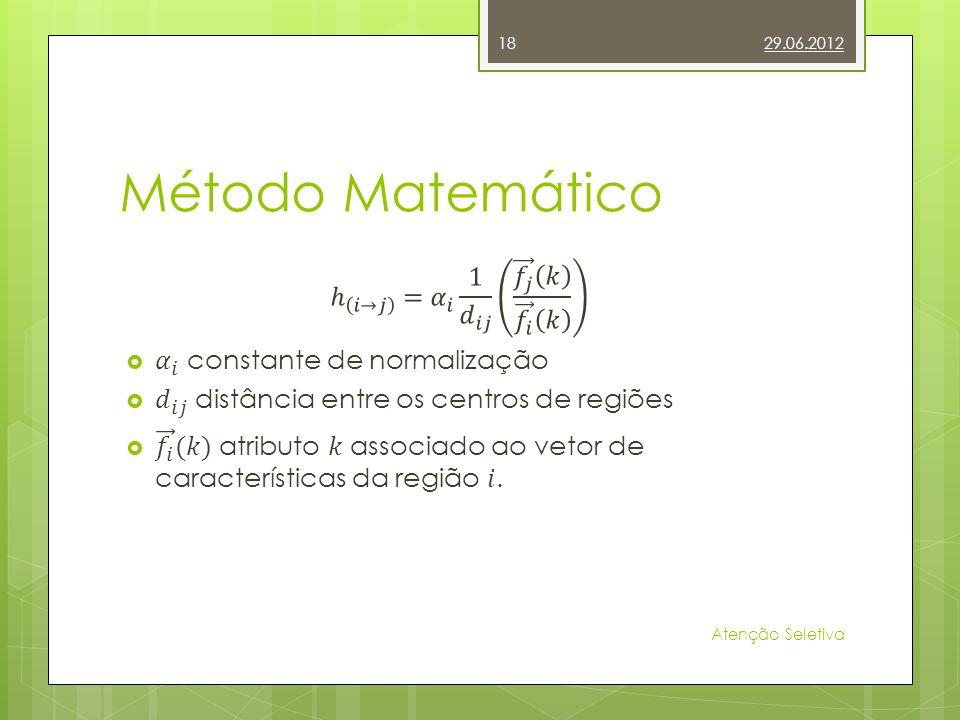 Método Matemático 29.06.2012 Atenção Seletiva 18