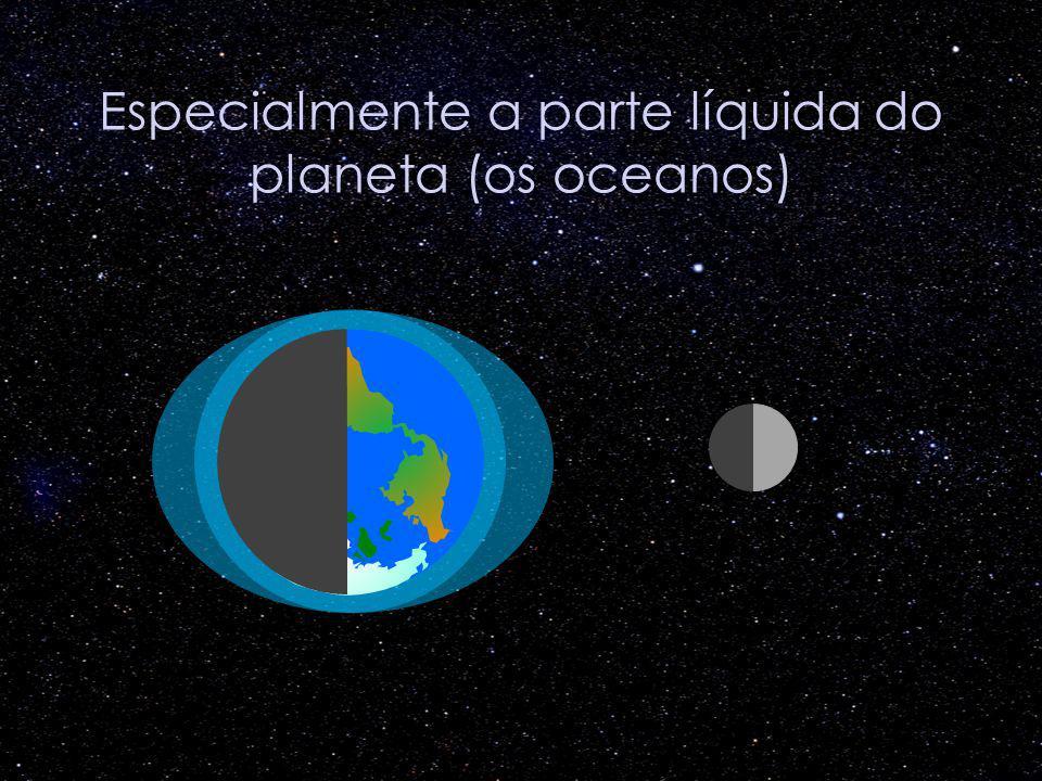 Especialmente a parte líquida do planeta (os oceanos)