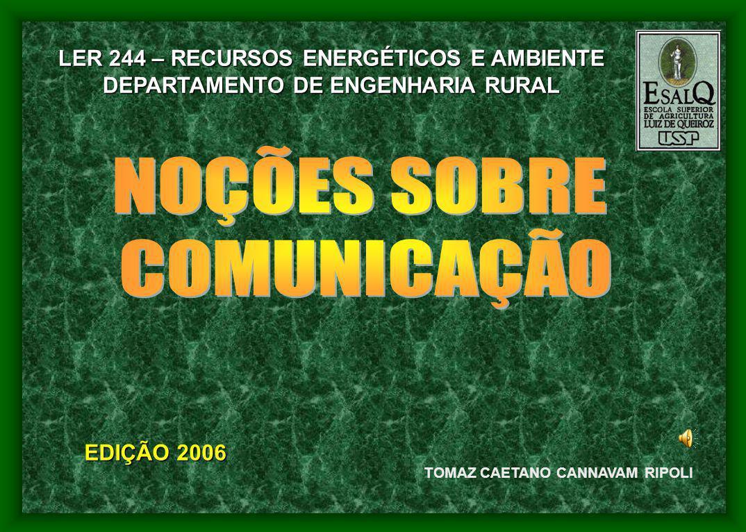 TOMAZ CAETANO CANNAVAM RIPOLI EDIÇÃO 2006 LER 244 – RECURSOS ENERGÉTICOS E AMBIENTE DEPARTAMENTO DE ENGENHARIA RURAL