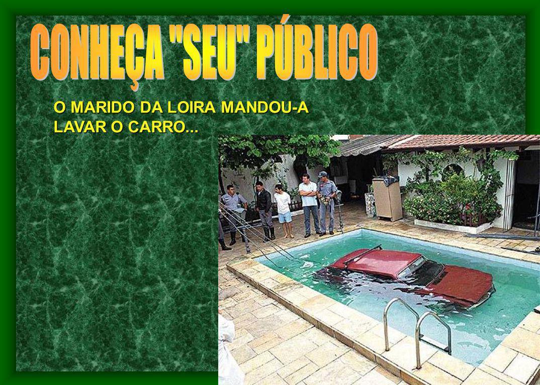 O MARIDO DA LOIRA MANDOU-A LAVAR O CARRO...