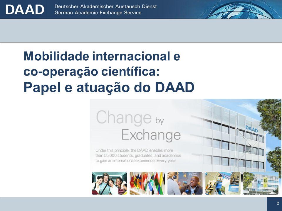 2 Mobilidade internacional e co-operação científica: Papel e atuação do DAAD