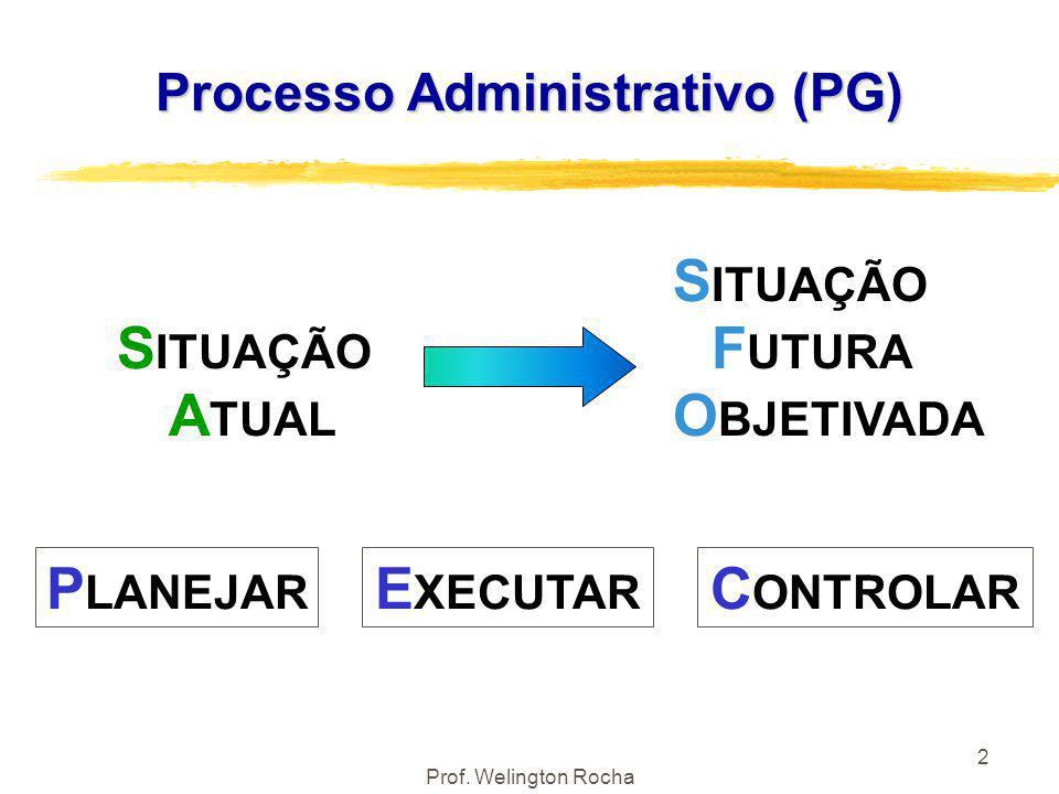 2 Processo Administrativo (PG) S ITUAÇÃO S ITUAÇÃO F UTURA A TUAL O BJETIVADA P LANEJAR E XECUTAR C ONTROLAR
